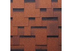 Bituminės čerpės Akordas Praga: ruda kontrastas