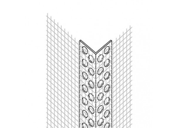 PVC kampinis profilis Ejot Profil su tinkleliu