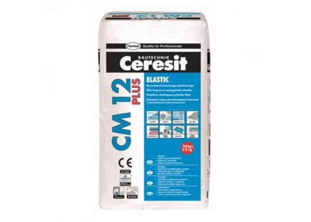 Padidinto elastingumo plytelių klijai Ceresit CM 12 Elastic