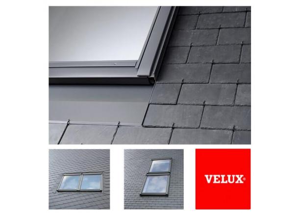 Tarpinė EKS dviems langams lygiai stogo dangai | Velux