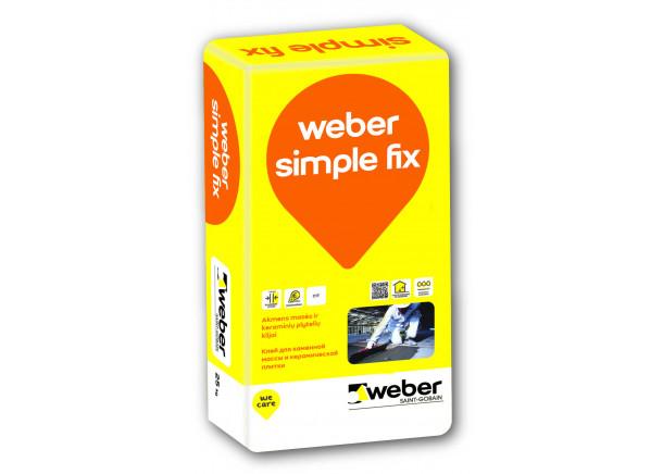 Keraminių ir akmens masės plytelių klijai Weber Simple Fix