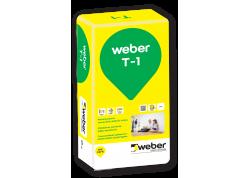 Plonasluoksnis cementinis tinkas Weber T-1