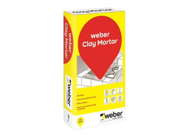 Molio mišinys Weber Clay Mortar