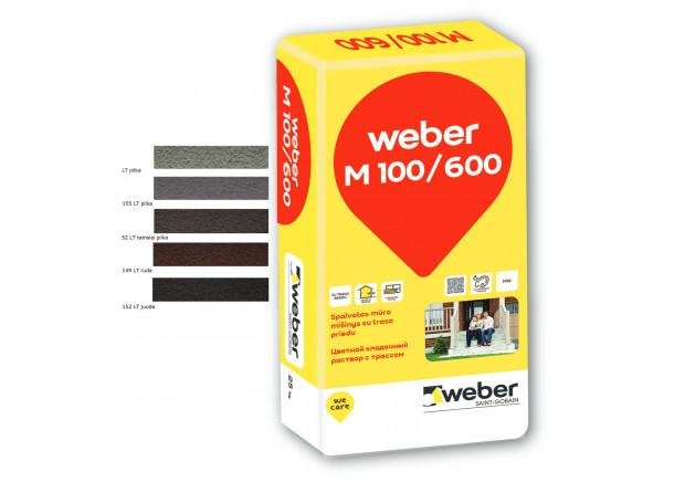 Mūro mišinys Weber M100/600 - Spalvos