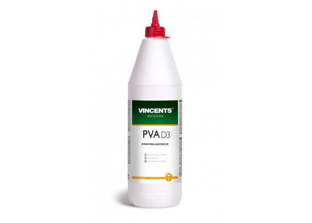 Klijai medienai Vincents polyline PVA D3, vidaus darbams, 1 kg