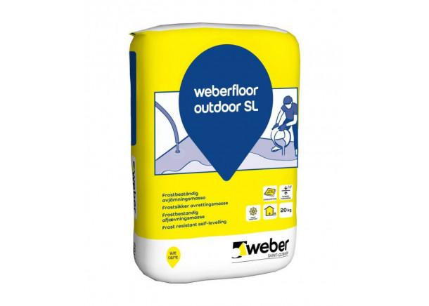 Grindų mišinys Weber Floor Outdoor SL, savaime išsilyginantis, lauko darbams, 20kg