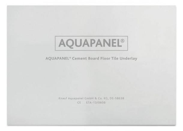 AQUAPANEL® Cement Board Floor Tile Underlay, cementinė grindų plokštė, 6 mm, Knauf