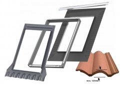 Montavimo paketas Velux EDW2000 BDX, banguotai dangai iki 120 mm